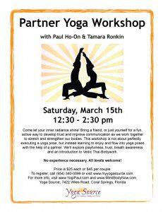Partner Yoga Workshop Flyer