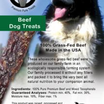 Circle V Beef Dog Treats Label