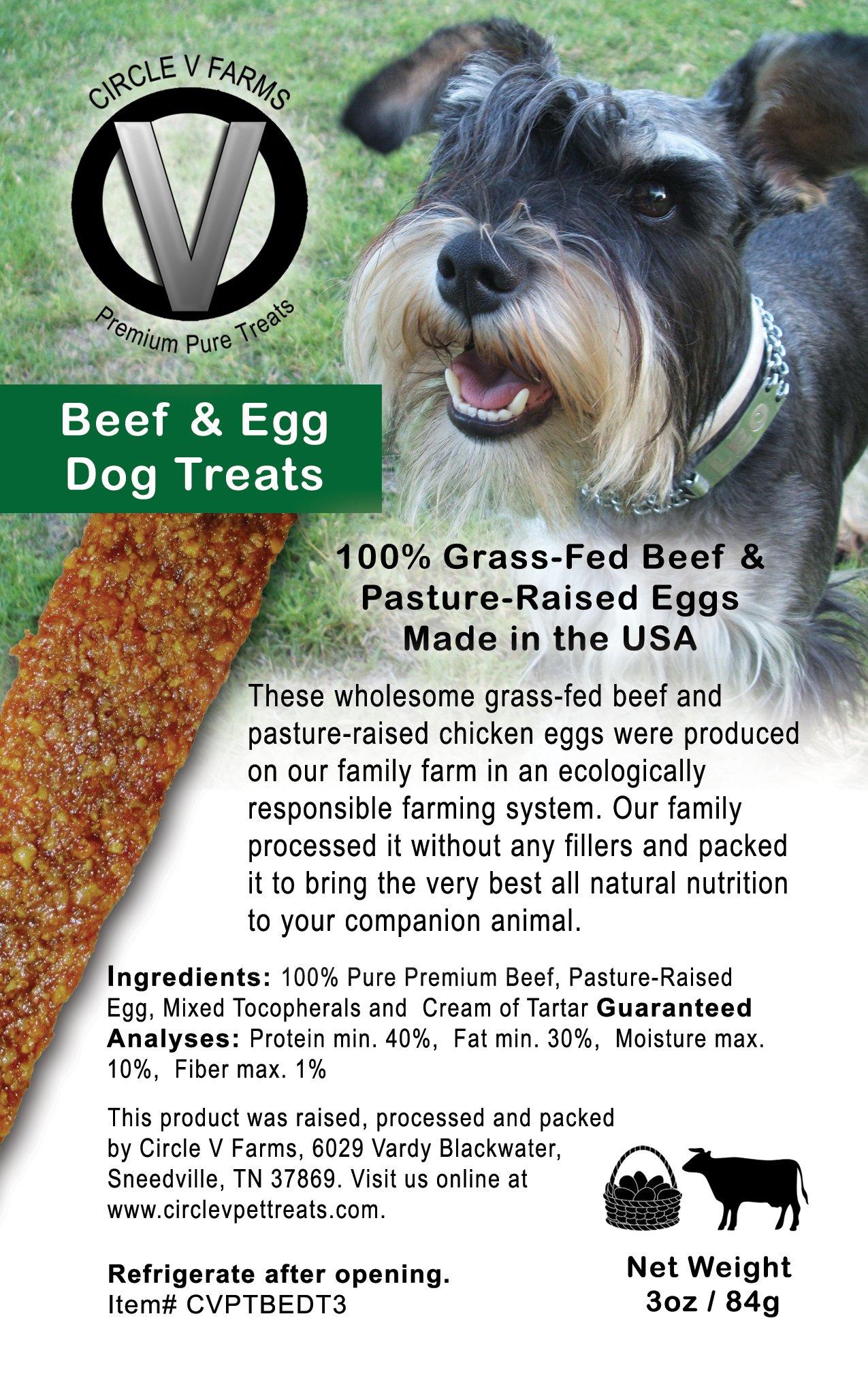 Circle V Beef & Egg Dog Treats