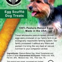 Circle V Egg Souffle Dog Treats Label