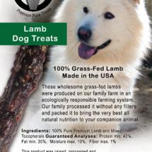 Circle V Lamb Dog Treats Label