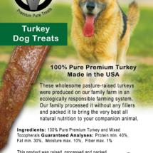 Circle V Turkey Dog Treats Label