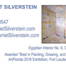 Harriet Silverstein business card