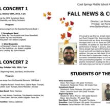 CSMS Music Newsletter / Program