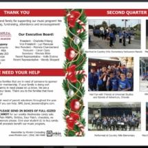 CSMS Music Winter Newsletter & Program, inside