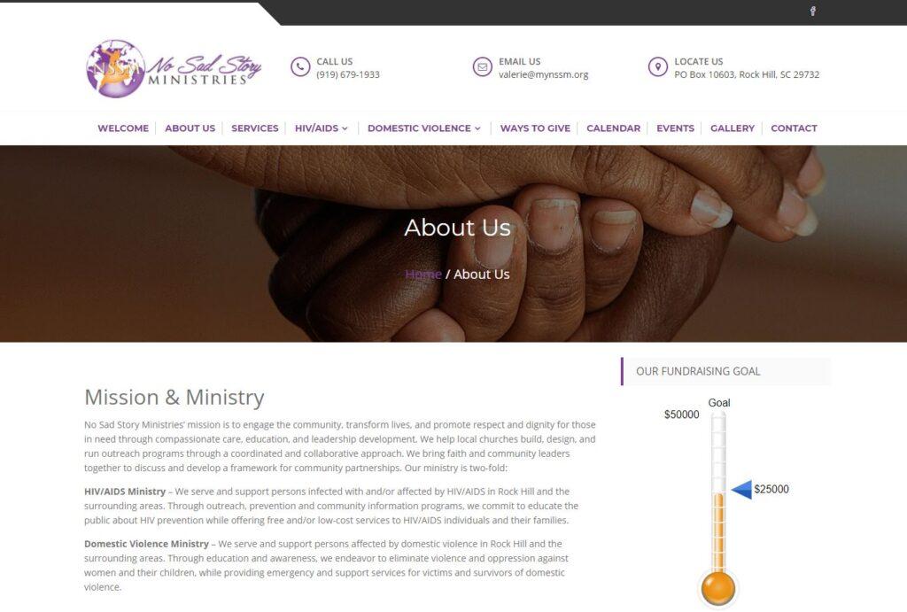 No Sad Story Ministries Web Site